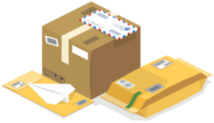 enveloppe and boxes